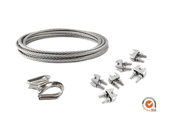 Kit câble en acier pour voiles d'ombrage