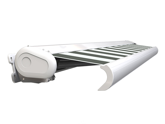 Store banne extérieur coffre intégral motorisé et manuel côté store