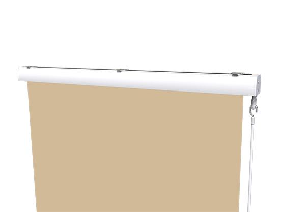 store vertical extérieur avec coffre côté store