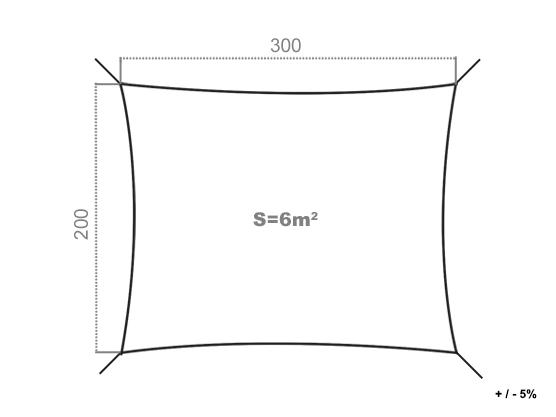 voile d 39 ombrage r sistante au vent 280g m2 rectangulaire 3 x 2 m beige c t store. Black Bedroom Furniture Sets. Home Design Ideas