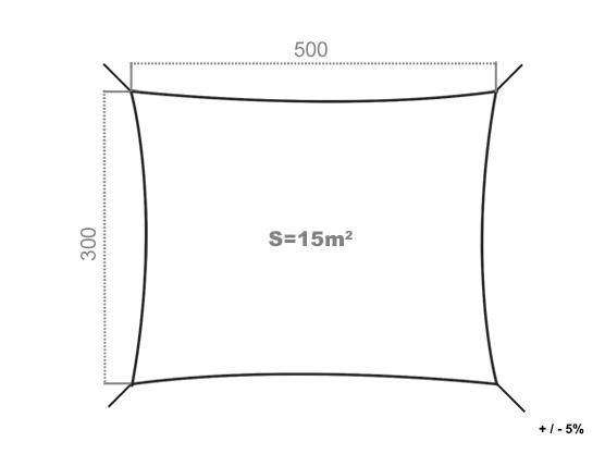 Voile d'ombrage rectangulaire côté store
